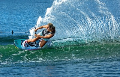 Local wake boarder makes some big waves