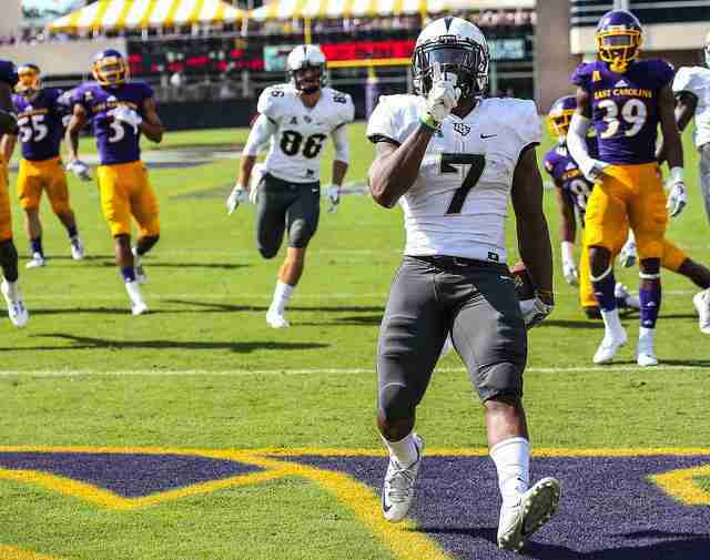 Dontravious Wilson scored two touchdowns and rushed for 73 yards in UCF
