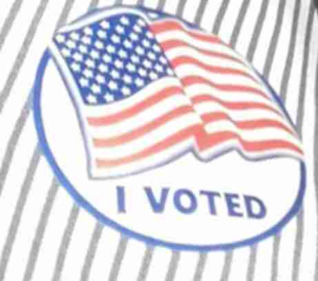 "picture of an ""I Voted"" sticker"