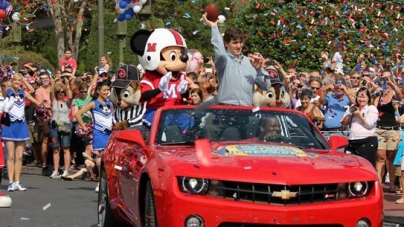 Giants MVP comes to Disney World day after Super Bowl