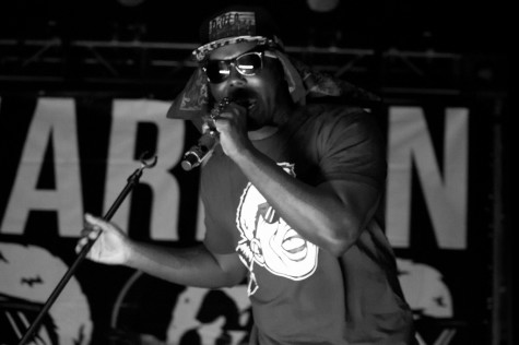 """Jarren Benton opens for Tech N9ne at the """"Independent Grind Tour"""" at the Plaza Live in Orlando, Fla. on April 17, 2014. (Ty Wright / Valencia Voice)"""