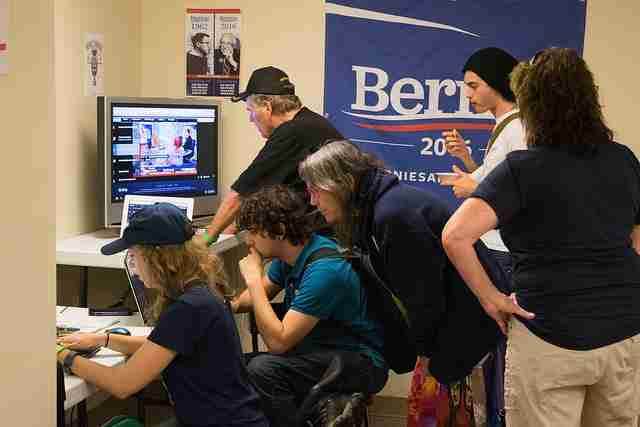 PHOTO GALLERY: Supporters gather at Bernie Sanders headquarters for Florida primary