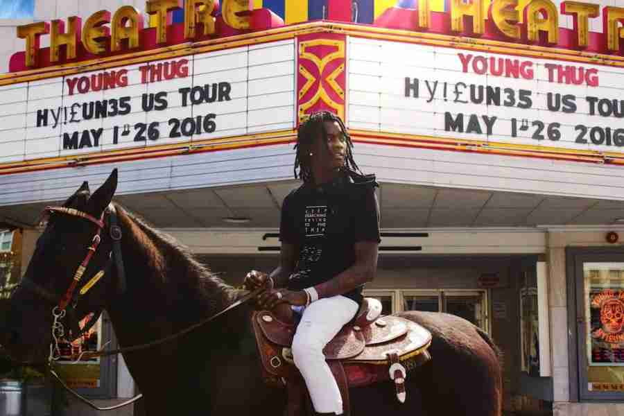 Young+Thug+is+apart+of+a+six+piece+Atlanta+collective+which+also+features+rapper+T.I..
