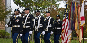 Soldiers and students talk Veterans Day