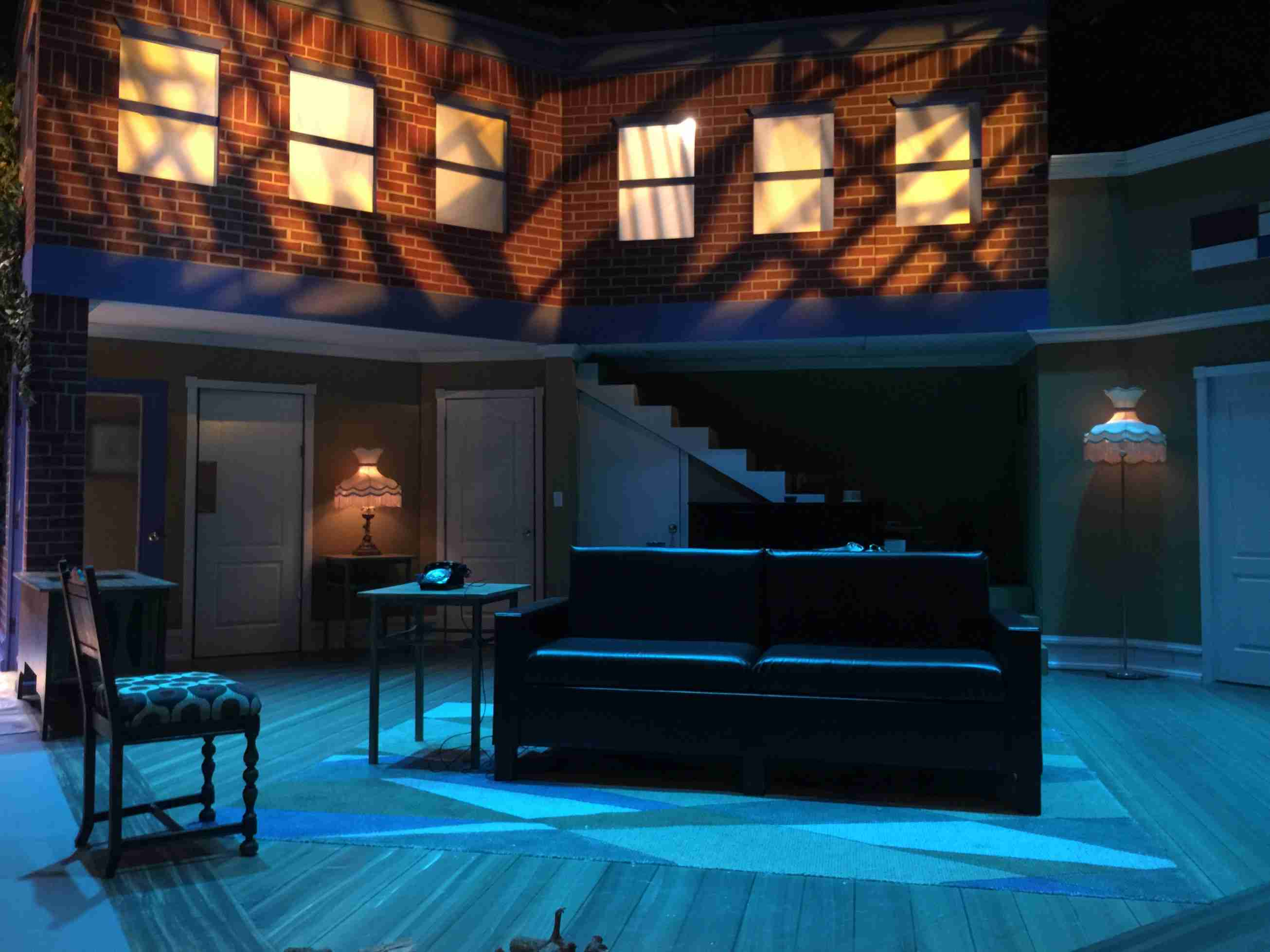 Valencia College's set design for the new production of The Seven-Year itch. The play makes a comeback after featuring on the school's 35th anniversary.