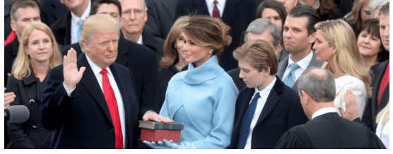 Courtesy of whitehouse.gov. Inauguration of the 45th President of the United States, Mr. Donald J. Trump.