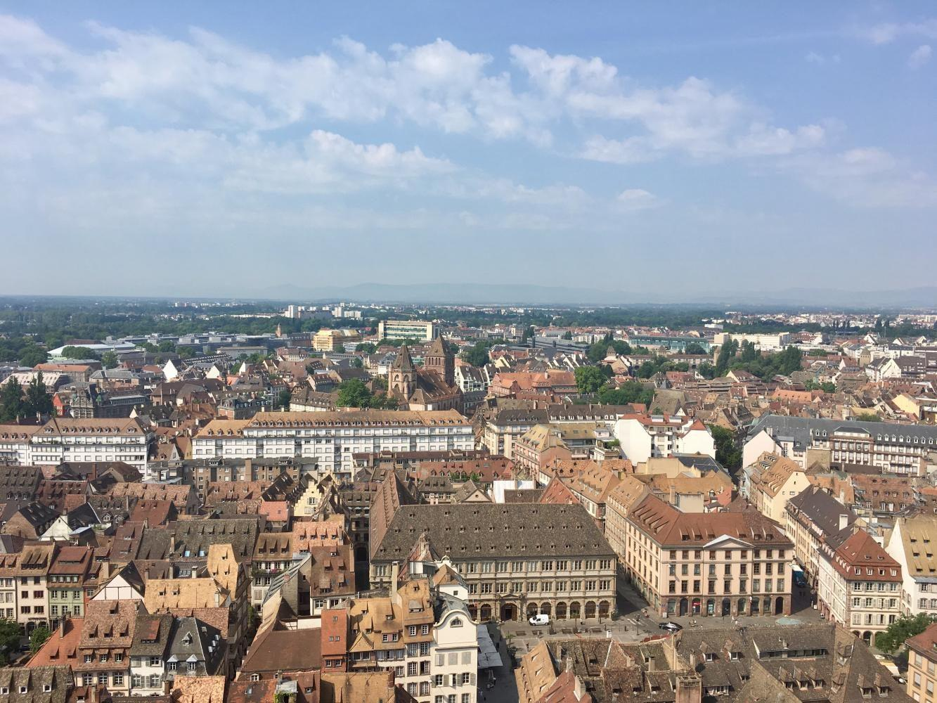 The+view+from+the+top+of+the+Strasbourg+Cathedral+