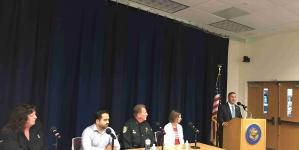 Soto Talks Gun Control at Town Hall